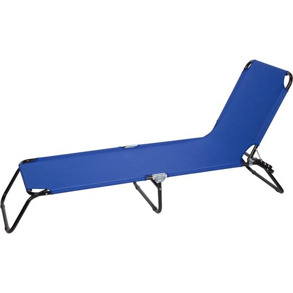 Blue Premium Folding Camp Cot