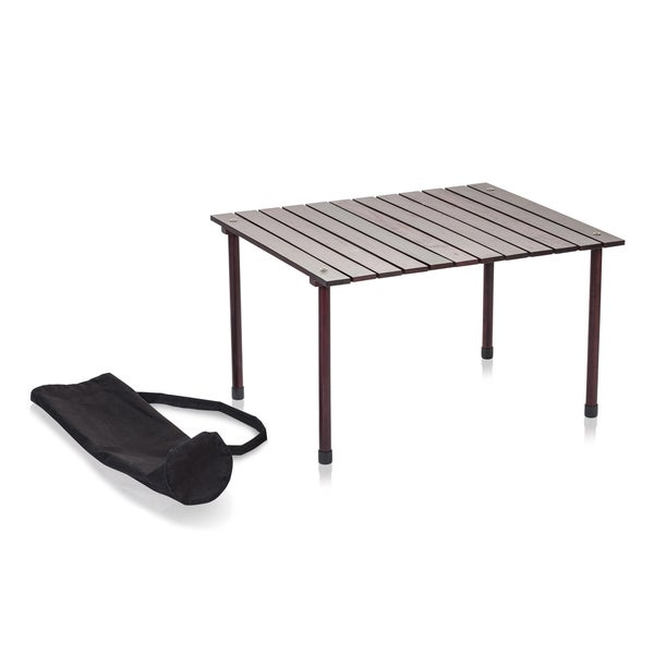 Low Wood Portable Table with Carry Bag
