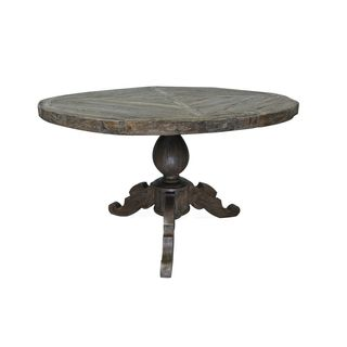 Decorative Brandon Brown Round Dining Table