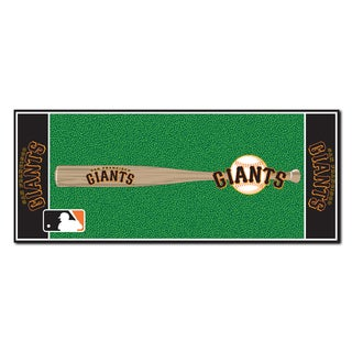 Fanmats Machine-made San Francisco Giants Green Nylon Baseball Runner (2'5 x 6')