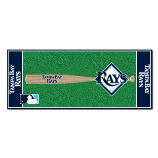 Fanmats Machine-made Tampa Bay Rays Green Nylon Baseball Runner (2'5 x 6')
