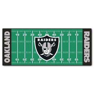 """FANMATS NFL - Oakland Raiders Football Field Runner 30""""x72"""""""