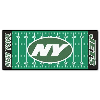 Fanmats Machine-made New York Jets Green Nylon Football Field Runner (2'5 x 6')