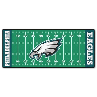 Fanmats Machine-made Philadelphia Eagles Green Nylon Football Field Runner (2'5 x 6')