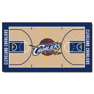 Fanmats Machine-made Cleveland Cavaliers Tan Nylon Large Court Runner (2'4 x 4'5)