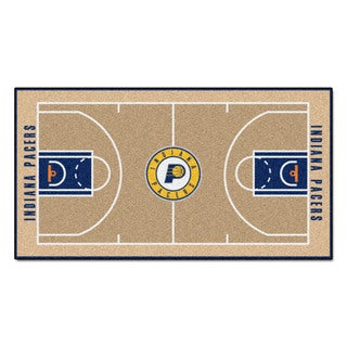 Fanmats Machine-made Indiana Pacers Tan Nylon Large Court Runner (2'4 x 4'5)