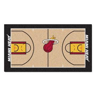 Fanmats Machine-made Miami Heat Tan Nylon Large Court Runner (2'4 x 4'5)