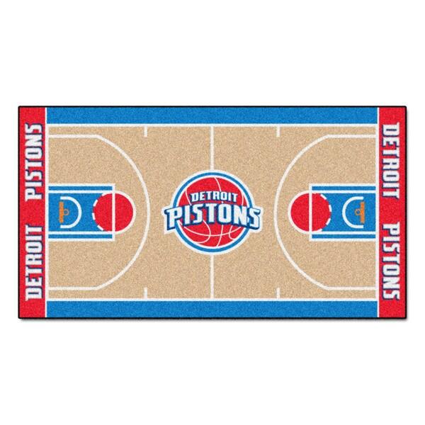 Fanmats Machine-made Detroit Pistons Tan Nylon Court Runner (2' x 3'6)