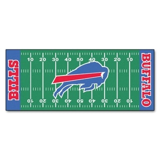Fanmats Machine-made Buffalo Bills Green Nylon Football Field Runner (2'5 x 6')