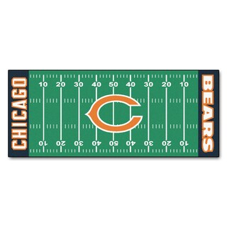 Fanmats Machine-made Chicago Bears Green Nylon Football Field Runner (2'5 x 6')