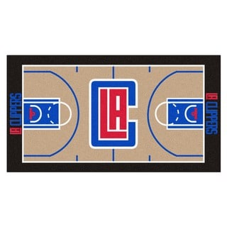 Fanmats Machine-made Los Angeles Clippers Tan Nylon Court Runner (2' x 3'6)