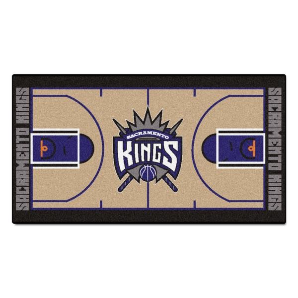Fanmats Machine-made Sacramento Kings Tan Nylon Court Runner (2' x 3'6)