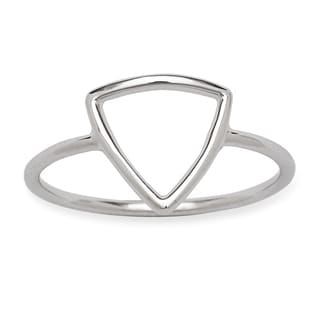 La Preciosa Sterling Silver Open Triangle Ring