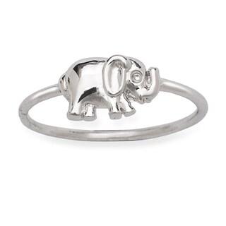 La Preciosa Sterling Silver Elephant Ring