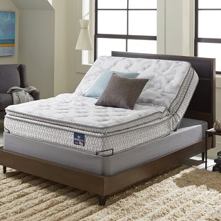 Serta Extravagant Pillowtop King-size Mattress Set with Elite Pivot Adjustable Foundation