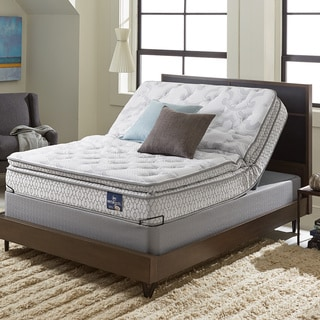 Serta Extravagant Plush Pillowtop Queen-size Mattress Set with Elite Pivot Adjustable Foundation