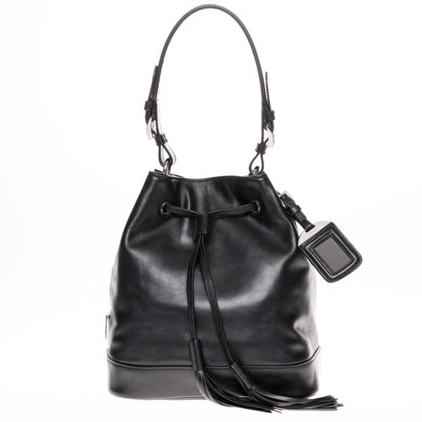 replica handbags thailand - prada soft calf two tone tote, prada suede bag
