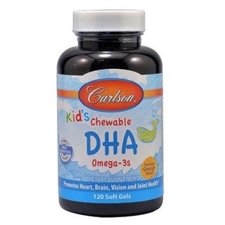Carlson For Kids Chewable DHA Bursting Orange Flavor (120 Softgels)
