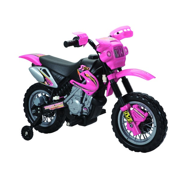 Fun Wheels Pink 6V Battery Operated Motorbike