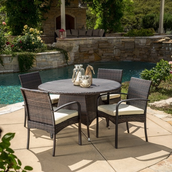 Christopher Knight Home Theodore Outdoor 5 piece Wicker