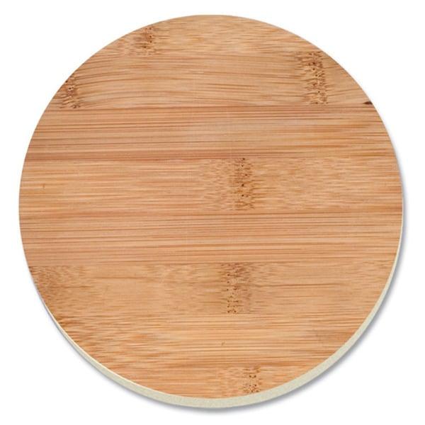 Absorbent Stone Coaster - Bamboo Design (Set of 4)