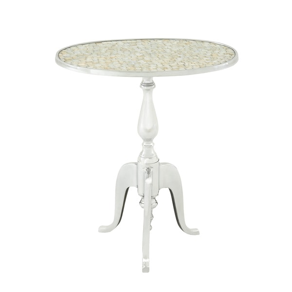 Graceful Aluminum Top Accent Table