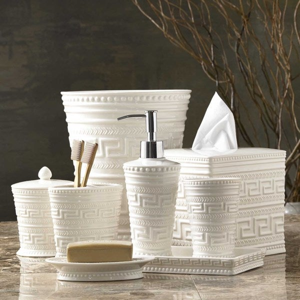 Grecian Motif Bath Accessory Collection - 17268699 ...