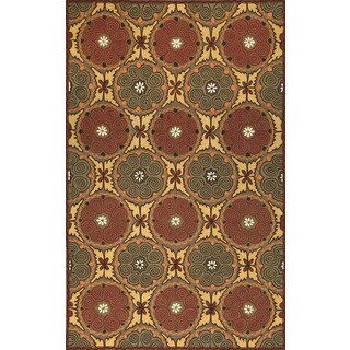 Ornamental Circles Outdoor Rug (8' x 10')