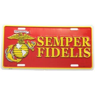 US Marine Corps Semper Fidelis Logo License Plate