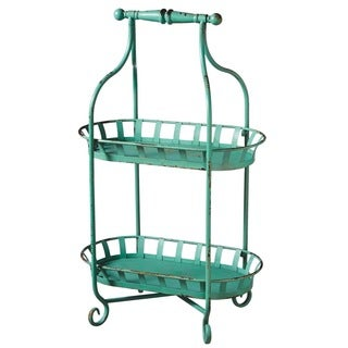 Midwest CBK Distressed Blue Two Tier Stand