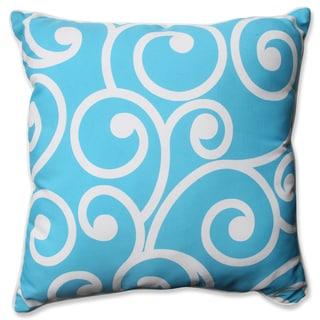 Pillow Perfect Outdoor/ Indoor Best Turquoise 23-inch Floor Pillow