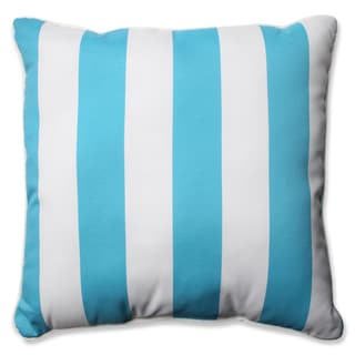Pillow Perfect Outdoor/ Indoor Cabana Stripe Turquoise 23-inch Floor Pillow