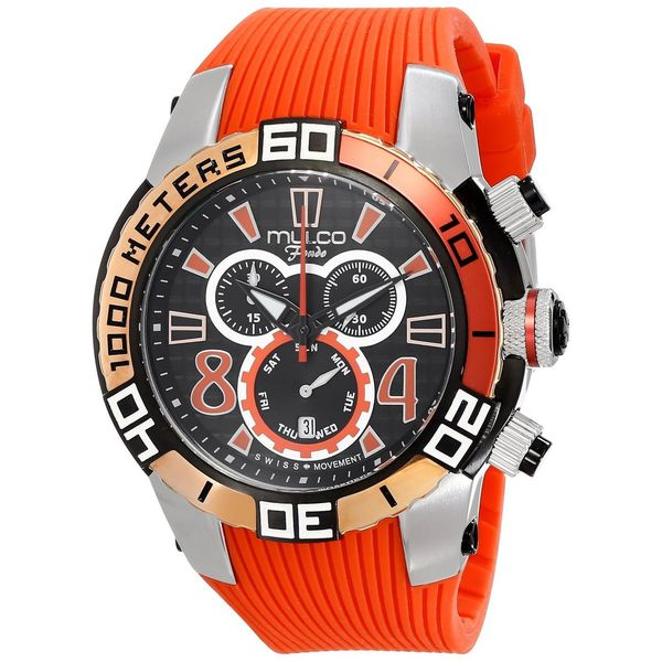 MULCO Unisex MW1-74197-065 Analog Display Swiss Quartz Orange Watch