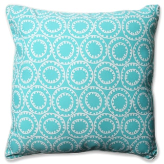 Pillow Perfect Outdoor/ Indoor Ring A Bell Turquoise 23-inch Floor Pillow