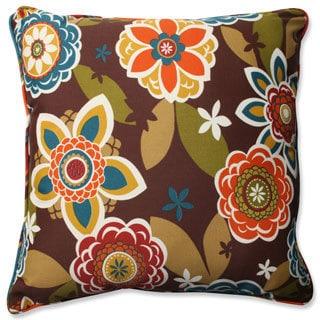 Pillow Perfect Outdoor/ Indoor Annie/Westport Chocolate 23-inch Floor Pillow