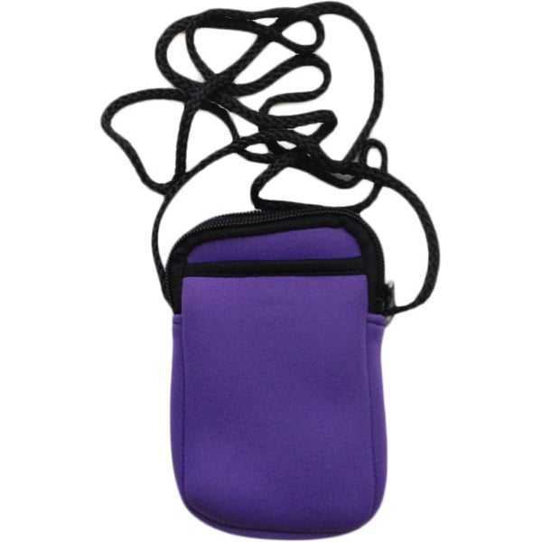 Luggage Spotter Pami Pocket Purple Neoprene Crossbody Smartphone Purse