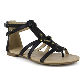 Mark and Maddux Women's Bishop-04 Multi Strap Sandal