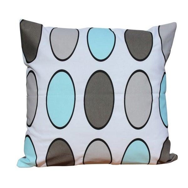 Cotton Polka Dots Pillow With Polyester.