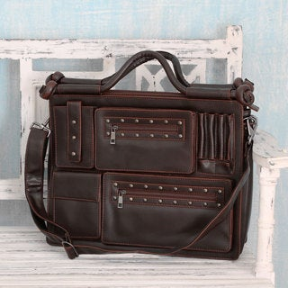 Multi-pocket 'Style Statement in Brown' Laptop Bag (India)