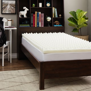 Slumber Solutions Dorm Big Bump 3-inch Twin XL-size Memory Foam Mattress Topper