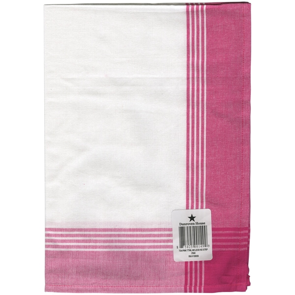 Striped Mcleod Towel 20inX28inWhite & Pink