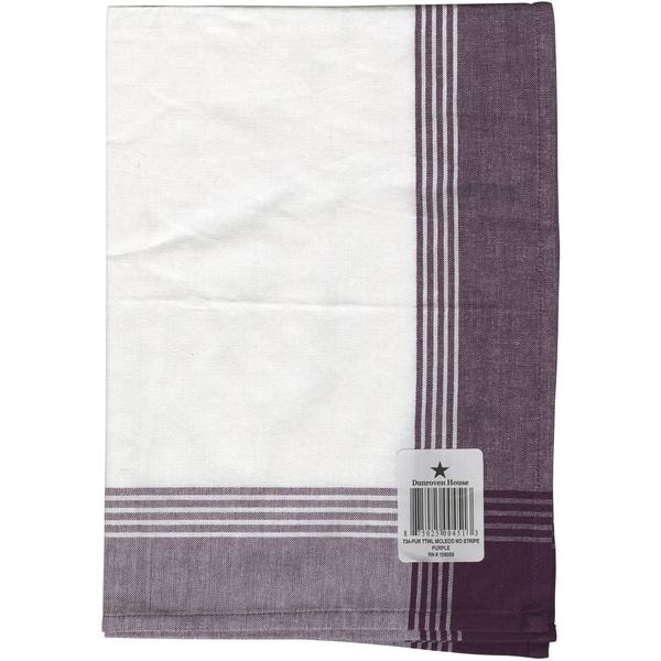 Striped McCleod Towel 20inX28inWhite & Purple
