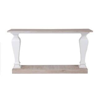 Newton White Rectangle Console Table