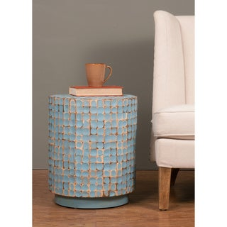 Shaw Blue Round Side Table