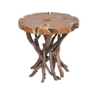 Americus Brown Round Side Table