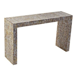Bremen Off-White Rectangle Console Table