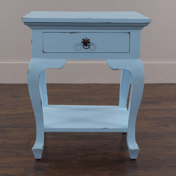Byron Blue Square Side Table