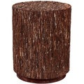 Amherst Brown Round Accent Table