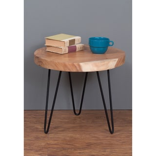 Ashland Tan Natural Round Side Table