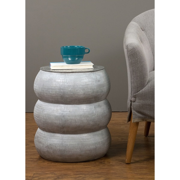 Athens White Round Side Table